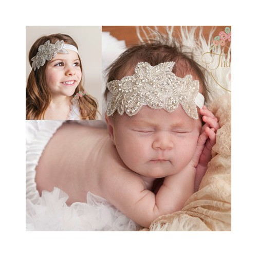 Ava - Luxury Sparkle Flower Baby Headband