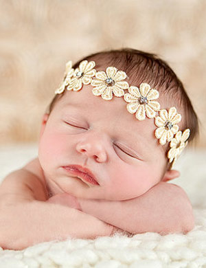 Helena - Luxury Flower Baby Headband