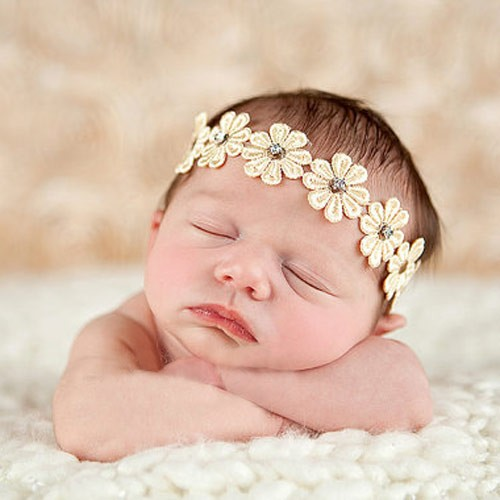 Helena - Luxury Bronze Flower Baby Headband