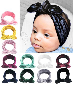 Evelyn - Crushed Velvet Top Knot Headband
