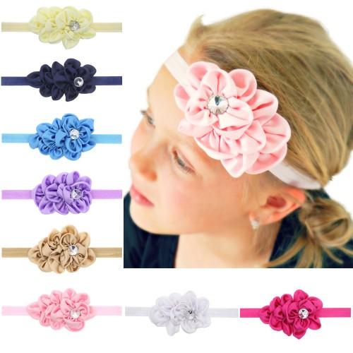 Satin Diamond Baby Headband