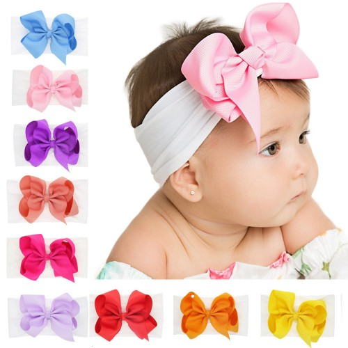 Emily - Luxury Classic Bow Baby Headwrap