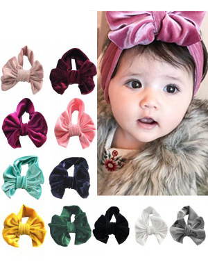 Valerie - Plush Velvet Luxury Bow Baby Headband
