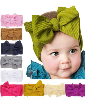 Libby - Luxury Vintage Bow Baby Headwrap
