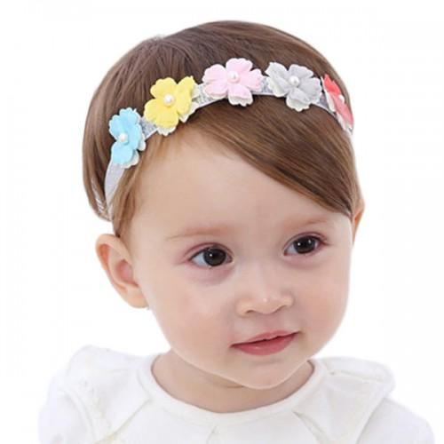 Ariana - Gorgeous Vibrant Flower & Pearl Baby Headband