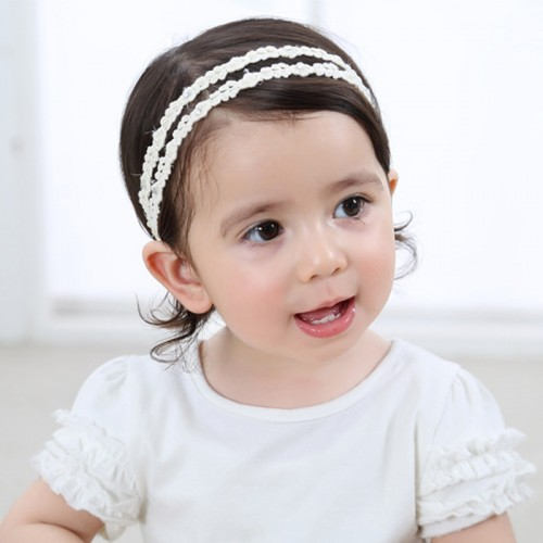 Lucia - Luxury Dual Flower & Lace Baby Headband