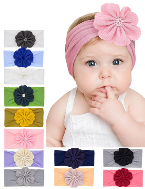 Georgia - Luxury Gorgeous Flower Baby Headwrap