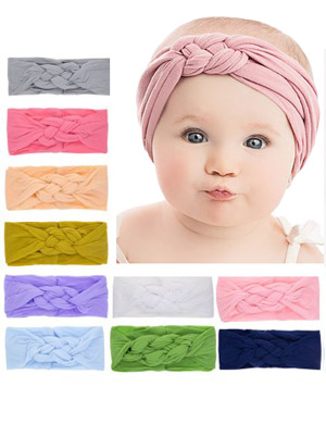 Amalie - Luxury Pastel Turban Baby Headband