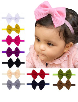 Marina - Luxury Pique Fabric Bow Baby Headband