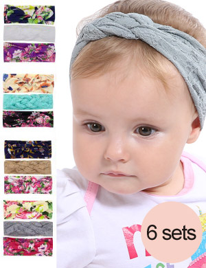 Lindsay Set - Luxury Boho Turban & Top Knot Combo Headband Set