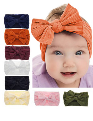 Megan - Luxury Comfort Bow Shabby Baby Headband