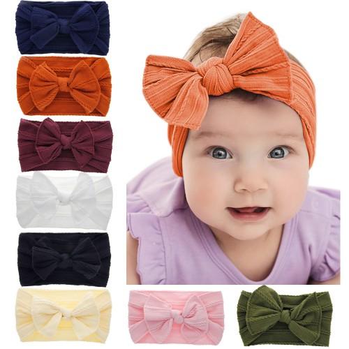Megan - Luxury Comfort Bow Shabby Baby Headband
