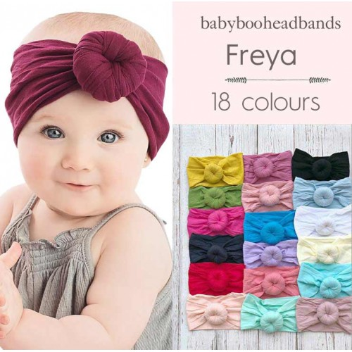 Freya - Luxury Comfort Fit Donut Knot Baby Headwrap
