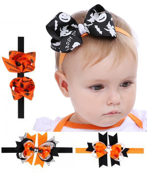 Morticia - Spooktacular Halloween Baby Headband Collection