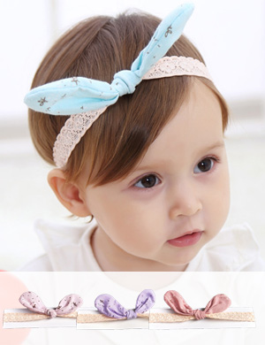 Alice - Luxury Bow & Soft Lace Baby Headband