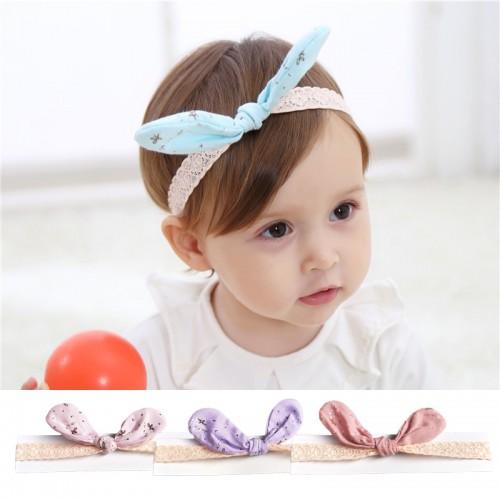Alice - Luxury Bow & Soft Lace Baby Headband
