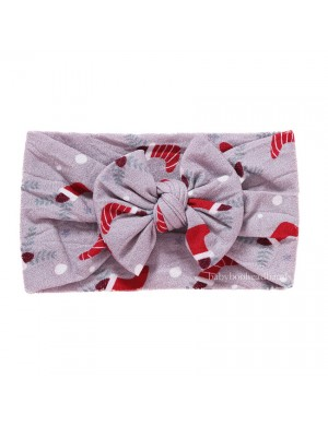 Stocking Surprise - Soft Bow Christmas Baby Headband