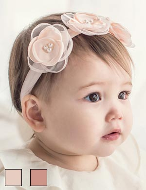 Cassie - Luxury Triple Peony Flower Floral Baby Girls Headband