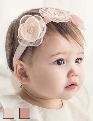 Cassie - Luxury Triple Peony Flower Floral Baby Girls Headband